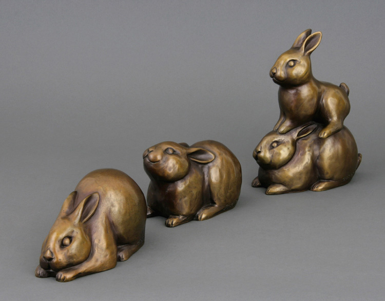 Sculpture of rabbits at Crown Hill Smiles
